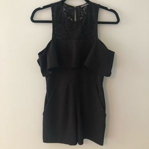 Express Black romper with pockets